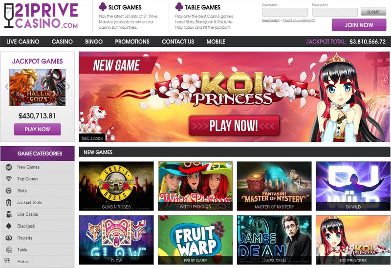 21 prive casino 60 free spins