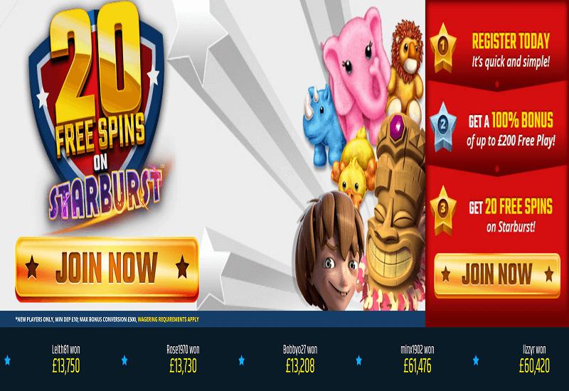 Star Games Casino Bonus