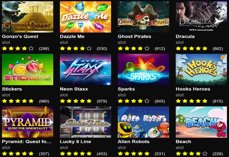 Bet'N'Spin Casino Video Slots