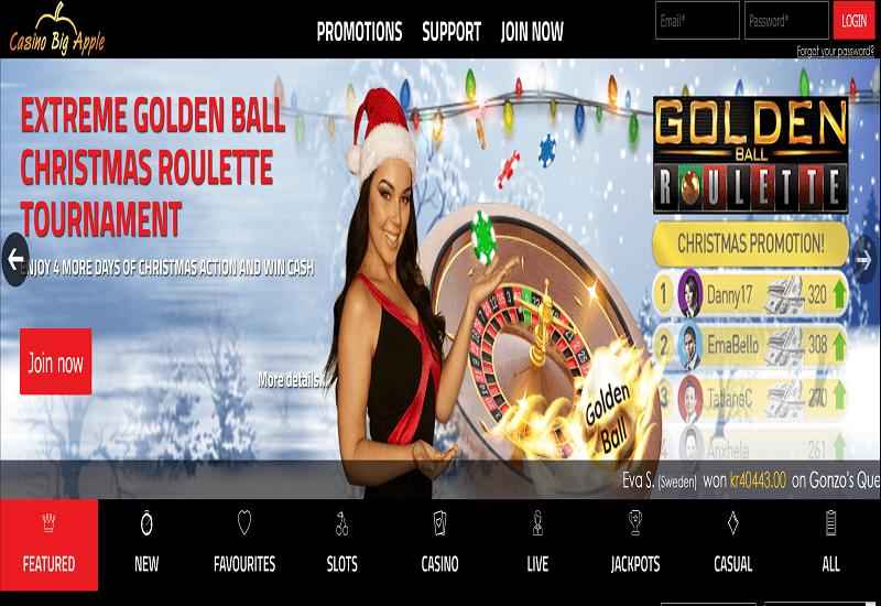 Big Apple Casino Home Page