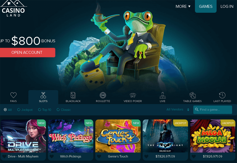 Casinoland Home Page