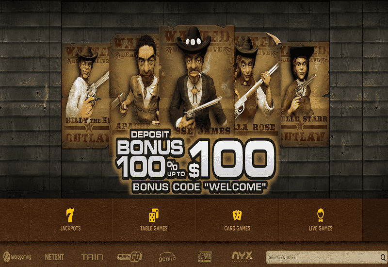 Everum Casino Home Page