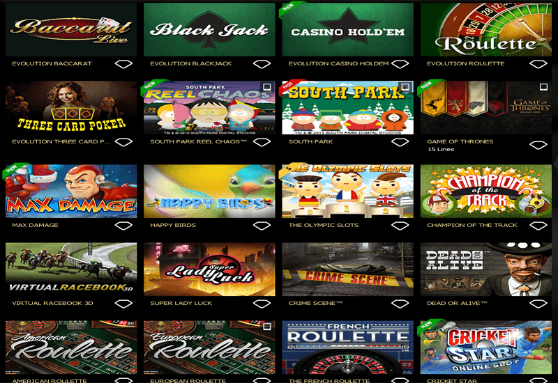 casino games for tv