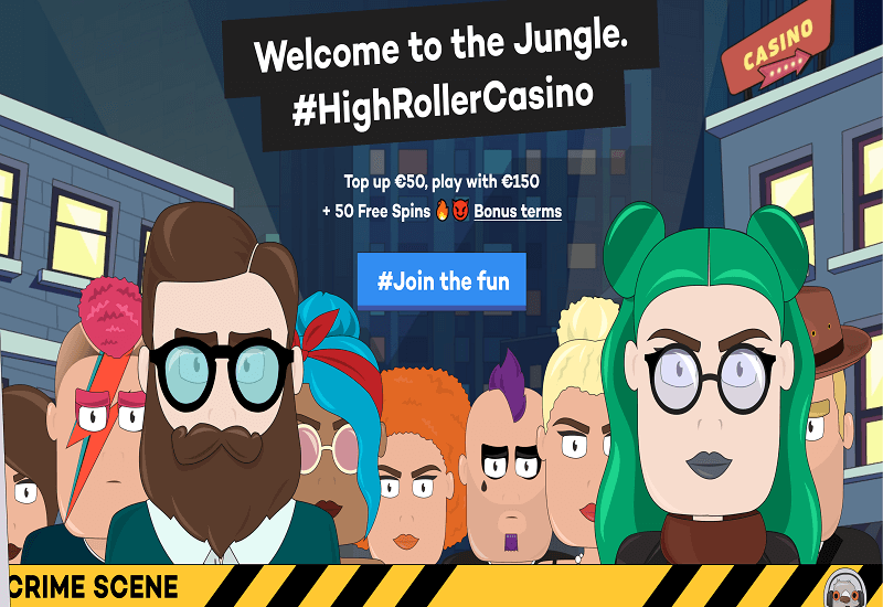 High Roller Casino Home Page