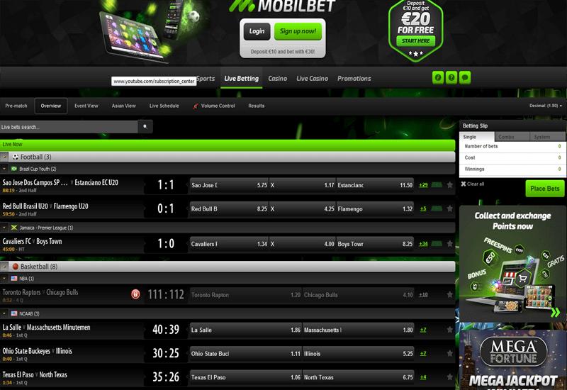 Mobilbet Casino Live Betting