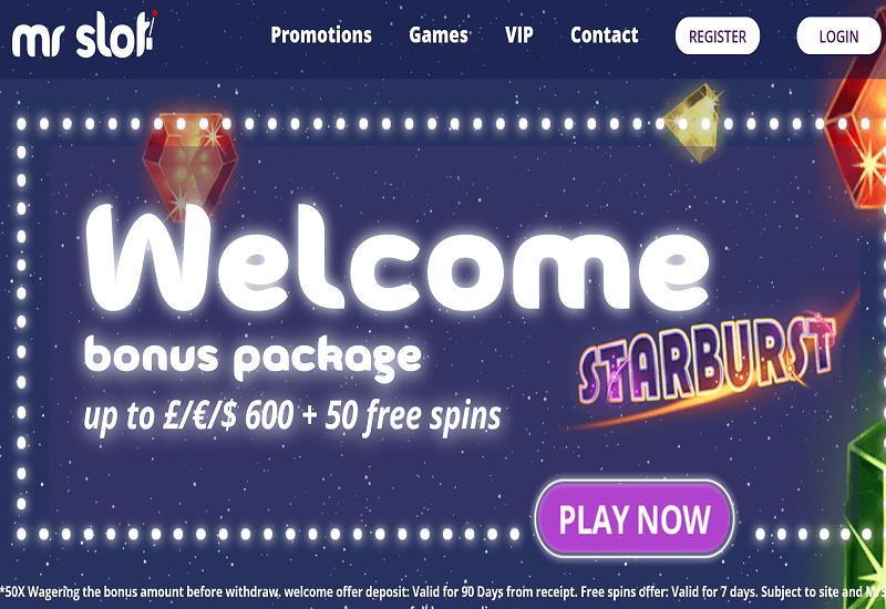Mr Slot Casino Home Page