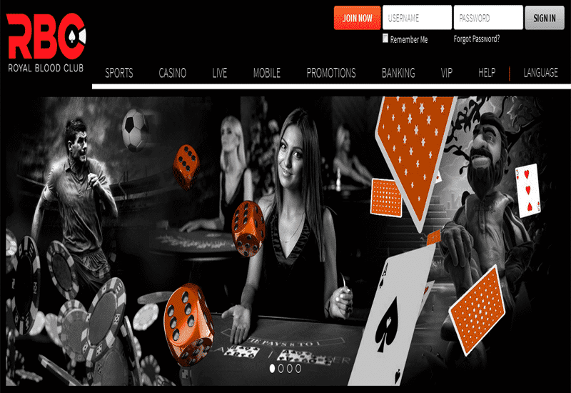 Royal Blood Club Casino Home Page