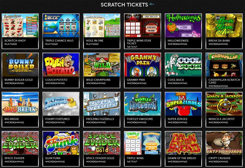 Spinson Casino Scratch Tickets