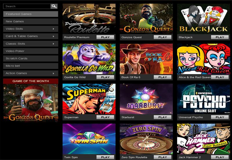 Casino Triomphe Games