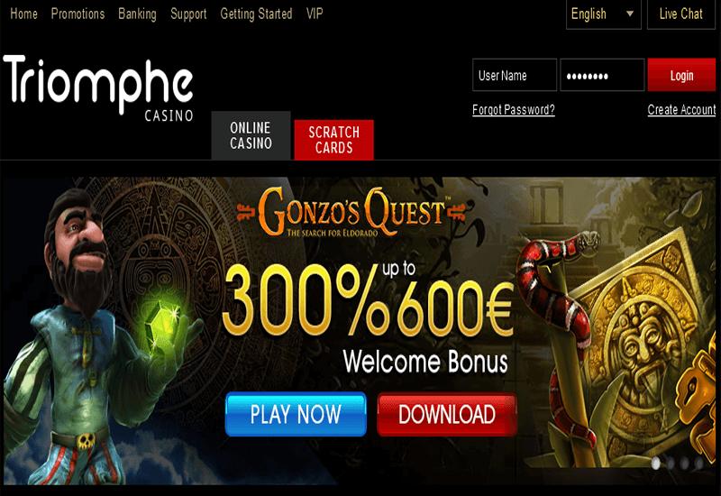 Casino Triomphe Home Page