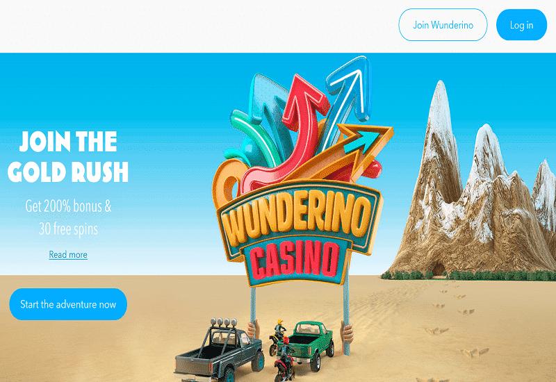 Wunderino Casino Home Page