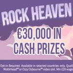 Rock Heaven: €30,000 from Aston Casino