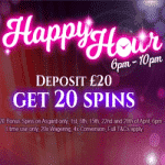 Happy Hour: 20 spins from casino Black Spins