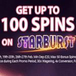 100 Bonus Spins on Starburst from Black Spins