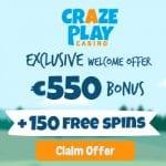 Craze Play Casino Bonus And  Review  Promotion