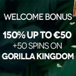 JackieJackpot Casino: 150% Bonus + 50 Spins