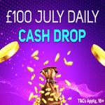 £100 July Daily Cash Drop at Magical Vegas