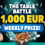 PlayAmo - The Table Battle: €1,000 Weekly Prize
