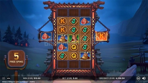 Riches of Midgard: Land and Expand Video Slot - NetEnt