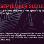 September Sizzle: super hot bonuses at Slots Deck