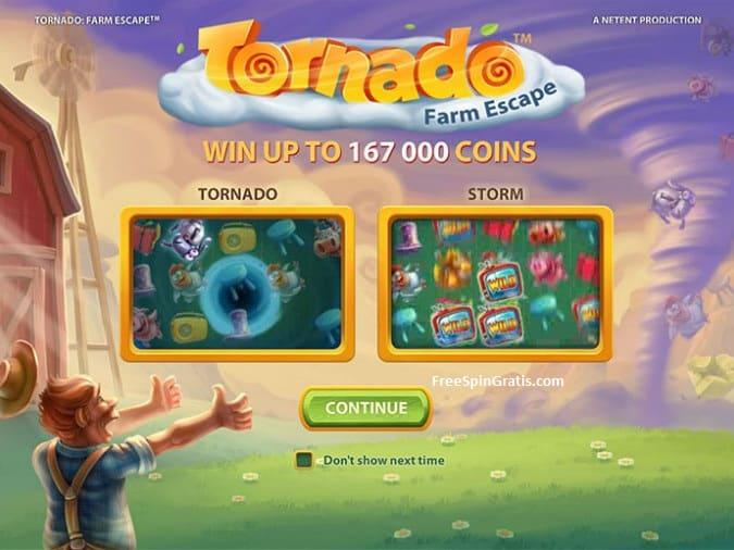 New NetEnt Game Tornado - Farmscape
