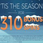 310 Bonus Spins - this December at Winstar